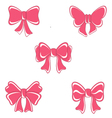 bow on weddings bow pink vector image vector image