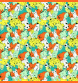 bright background with fantastic creatures vector image vector image