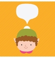 Christmas elf with speech bubble vector image vector image