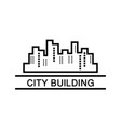 city building business logo vector image vector image