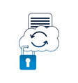 cloud reload storage data security document vector image vector image