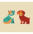 Collection of cat and dog icons and vector image vector image