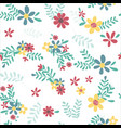 colourful spring flower pattern seamless vector image