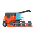combine harvester isolated flat vector image