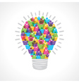 Creative light-bulb of colorful male and female vector image vector image