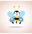 cute bee mascot cartoon character vector image vector image