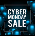 cyber monday sale gold lettering holiday shopping vector image vector image
