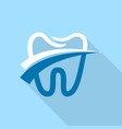dental tooth logo icon flat style vector image vector image