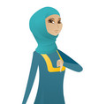 disappointed muslim business woman with thumb down vector image vector image