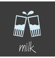 drink milk design banner and background eps10 vector image