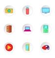 Electronics icons set cartoon style vector image