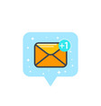 email sms message icon on white vector image vector image