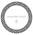 frame round ornament meander pattern vector image
