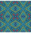 geometric seamless tiled pattern blue vector image vector image