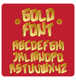 Gold font vector image