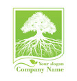 green tree template vector image vector image