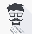 Hipster face vector image