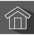 house isolated icon design vector image vector image