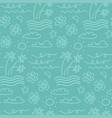 island seamless pattern in summer mood with vector image