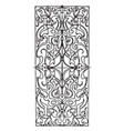 ivory inlay oblong panel is a 16th century design vector image vector image