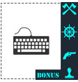 keyboard icon flat vector image vector image