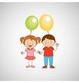 kids celebrating design vector image