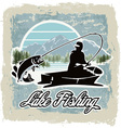 lake fishing vector image vector image