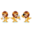 Lion Mascot with laptop vector image