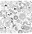 microbiology seamless pattern vector image vector image