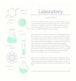 Modern logotype icon laboratory chemistry vector image vector image