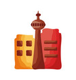 national tower canadian monument flat style vector image vector image