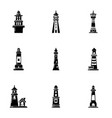navigation sign icons set simple style vector image vector image