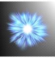 neon blue light rays eps 10 vector image