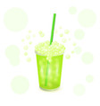 one oxygen cocktail for health center glass vector image