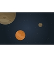 Outer space planet with stars landscape vector image vector image