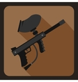 Paintball marker icon flat style vector image vector image