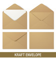 realistic brown envelope mockups vector image vector image