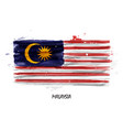 realistic watercolor painting flag of malaysia vector image vector image