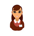 reception or secretary girl vector image vector image