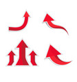red arrows paper with shadow vector image vector image