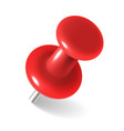 red thumbtack round metal pushpin for attach memo vector image vector image