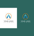 round arrow triangle logo vector image vector image