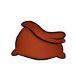 santa bag christmas empty sack icon symbol design vector image vector image