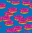 seamless pattern with donuts colorful doodle vector image vector image