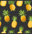 seamless pineapple pattern tropical fruit vector image vector image