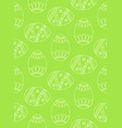 seamless simple pattern with easter eggs green vector image