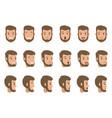 set character s emotions cartoon vector image