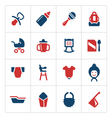 Set color icons of newborn baby vector image vector image