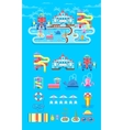 set elements water park vector image vector image