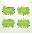 Set of fruits and vegetables labels vector image vector image